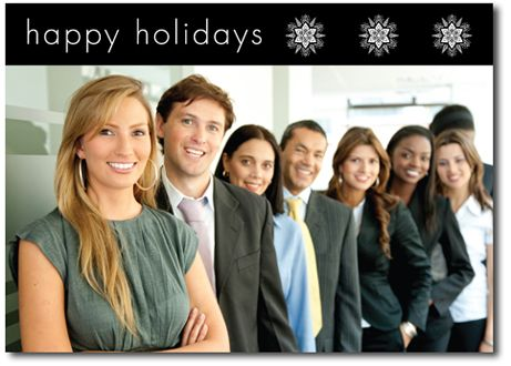 Happy Holidays Photo Card in Black - by THE OFFICE GAL