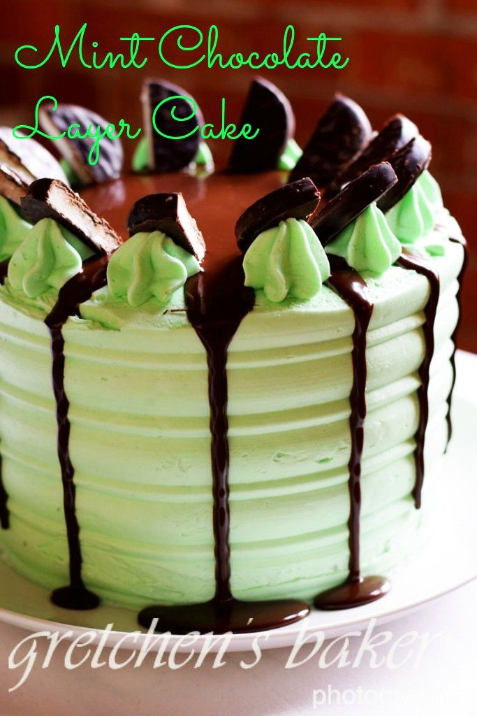 Junior Mints and Peppermint Patties  Chocolate Layer Cake
