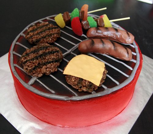 BBQ Birthday Cake http://www.shortandsweets.net/wp-content/gallery/cakes/bbq-grill.jpg