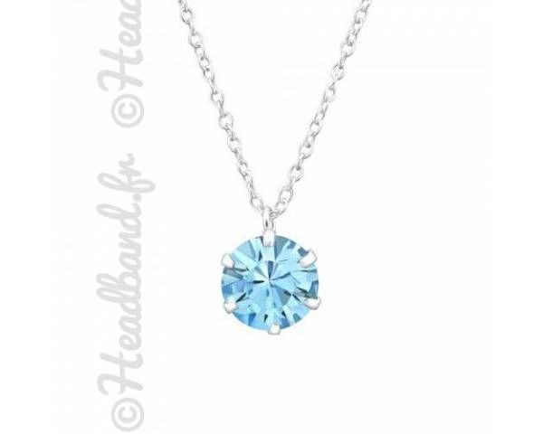 Collier avec cristal Swarovski bleu