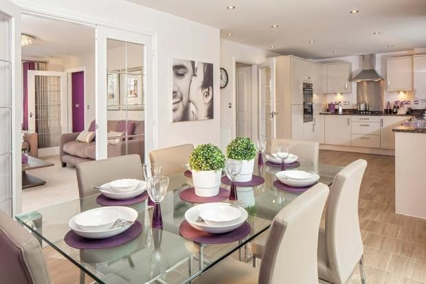 Lovely lilac detail - Typical Taylor Wimpey home