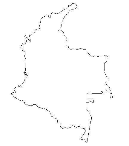 Blank Colombia Map Outline | Gonna turn this into a poster-like thing with a heart near Bogotá.