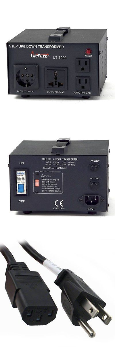 Travel Adapters and Converters: Isolation Transformers Litefuze Lt-1000 1000-Watt Step Up/Down 110V/220V Circuit BUY IT NOW ONLY: $75.79