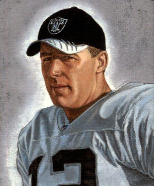 Rich Gannon, QB Raiders by Ron Adair, 2003.