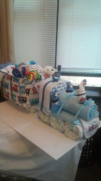 Choo choo train diaper cake                                                                                                                                                                                 More