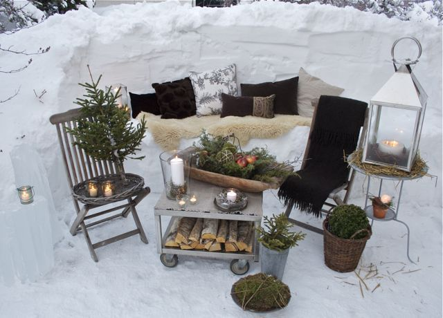 winter outdoor room could be cool for a photoshoot cozy knit christmas sweaters mittens and. Black Bedroom Furniture Sets. Home Design Ideas