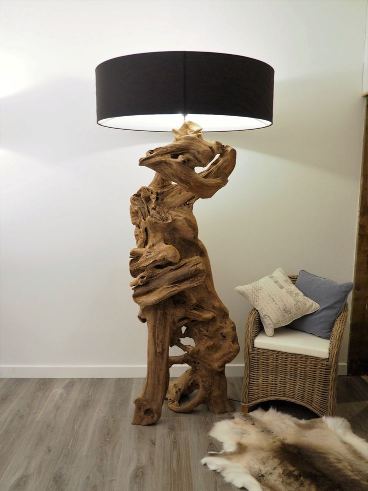 Wowu2026.a Statement Sculpture Which Is Also A Floor Lamp. An Extra Large  Beautiful Rustic Teak Root Would Give This Lamp Pride Of Place In The Home.