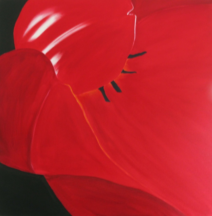 'Tulip' oil on canvas 1x1m