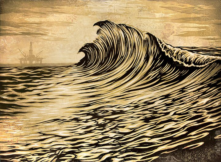 Shepard Fairey - Water is the New Black (2016)