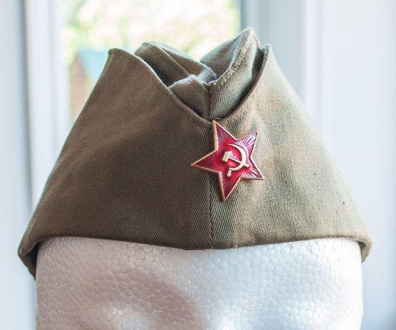 Chapeau militaire de l'armée soviétique  URSS  calot par 3rvintages