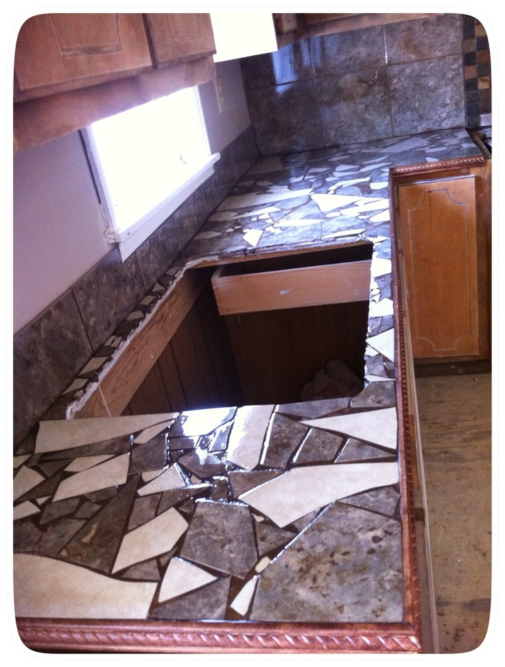 Custom Mosaic Countertop for customer Ideas or DIY for
