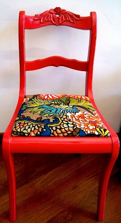 cool chair for mismatched dining room http://www.etsy.com/listing/95820482/vintage-chairs-schumacher-chiang-mai?ref=sr_gallery_13_search_query=chair_view_type=gallery_ship_to=US_search_type=handmade