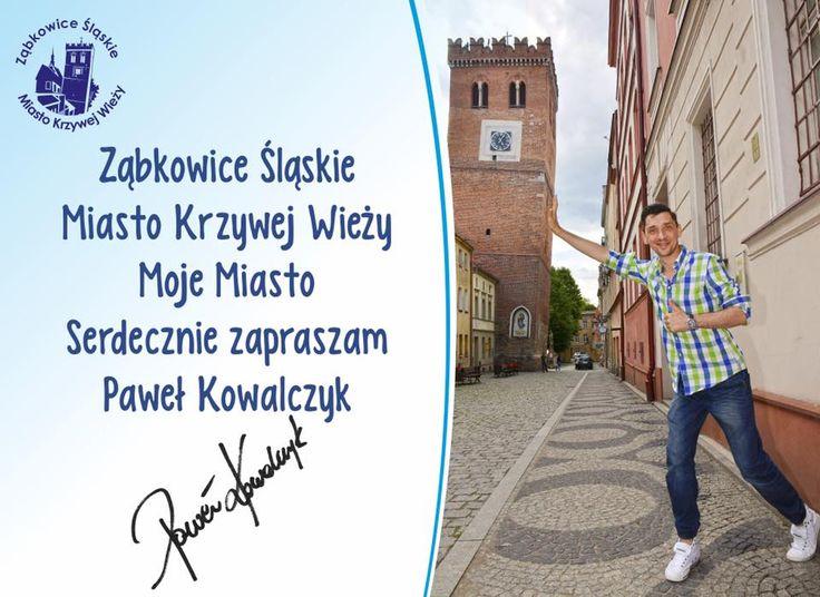 Kovalczyk promuje swoje rodzinne miasto Ząbkowice Śląskie - Miasto Krzywej Wieży. #Kovalczyk #ZabkowiceSlaskie #MiastoKrzyWejwiezy