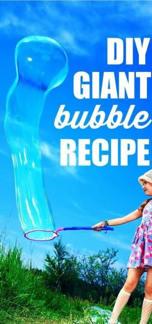 Follow this simple DIY bubble recipe to make giant bubbles of your own! Your kids will think these are the best bubbles ever - and you'll probably have some fun whipping up this giant bubbles recipe too! by josie