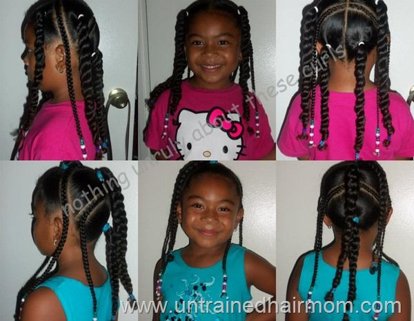 Groovy 1000 Images About Natural Kids Pig Ponytails On Pinterest Short Hairstyles For Black Women Fulllsitofus