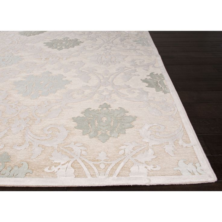 Machine Made Floral Pattern Ivory\Ivory (9x12) Area Rug - Overstock™  Shopping