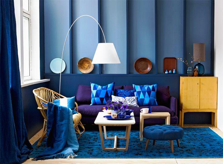 Oh that deep blue! Styling Anna-Kaisa Melvas. Photo Piia Arnould. Glorian Koti.