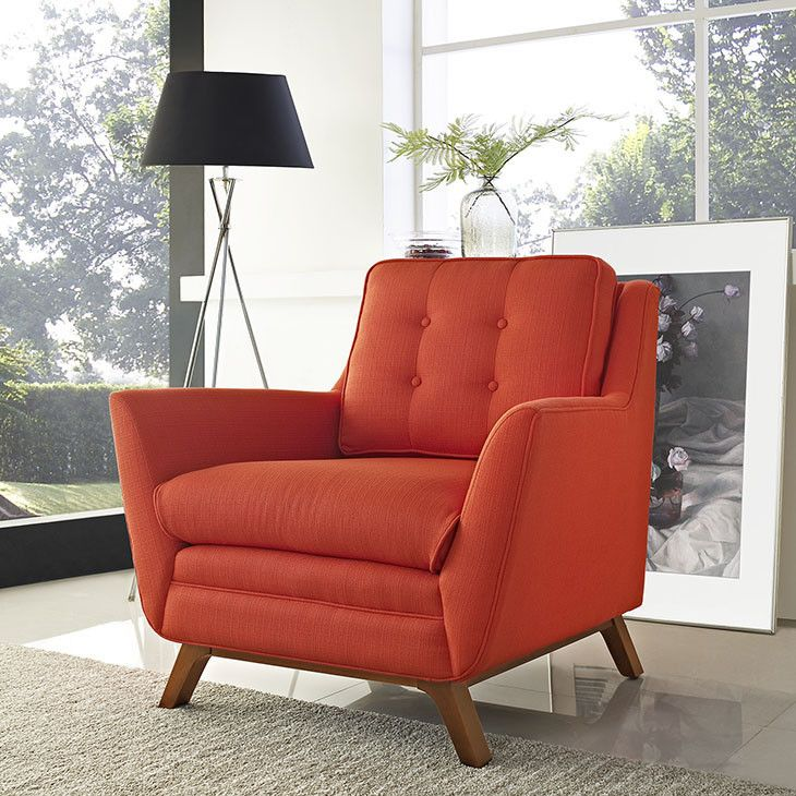 Beguile Fabric Armchair In Atomic Red   EEI 1798 ATO For $407 DESCRIPTION :  · Modern ArmchairArm ChairsAccent ...