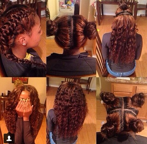 Sew-in  I have never had a weave but this makes me want to get one if it looks this good!!!