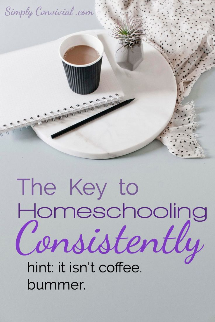 Want to know how to homeschool consistently? Here's a kick in the pants and a free download to help you in homeschooling consistently every morning!