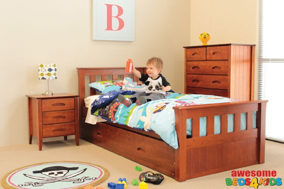 King Single Tweed Heads Trundle Bed - Awesome Beds 4 Kids
