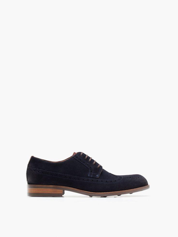 SCARPA INGLESE SCAMOSCIATA scura da abbinare a pantaloni scuri. dark shoe for dark pants