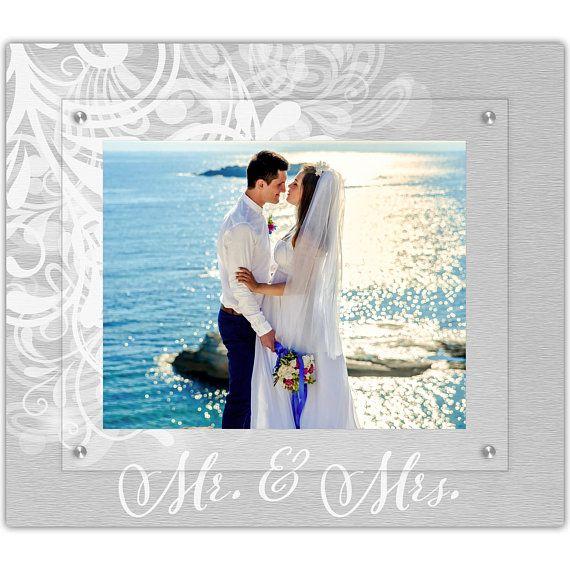 Mr And Mrs Wedding Frame Modern Angle Picture Frame 8x10 Etsy Framed Wedding Photos Gallery Wall Frames Wedding Frames