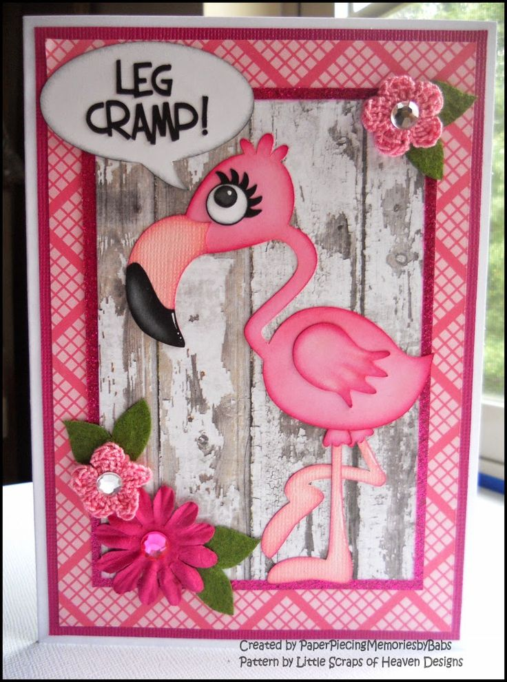 Flamingo Greeting Card created by PAPER PIECING MEMORIES BY BABS
