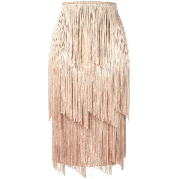Tom Ford fringed skirt found on Polyvore featuring skirts, bottoms, юбки, tom ford skirt, fringe skirts, pink skirt and tom ford