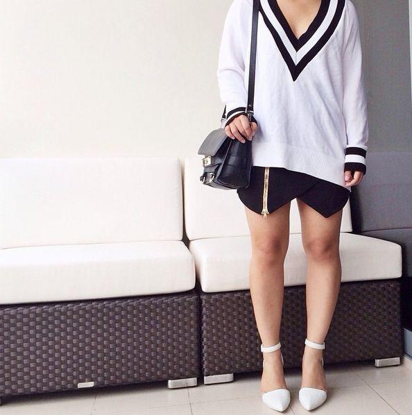 We Love | Lauren Alexa styles our 'Yea Yea Yea' Skirt by @3floor, now only $150.00   http://theeditonline.com.au/product/three-floor-yea-yea-yea-skirt/   #theeditonline #bloggerstyle #threefloor