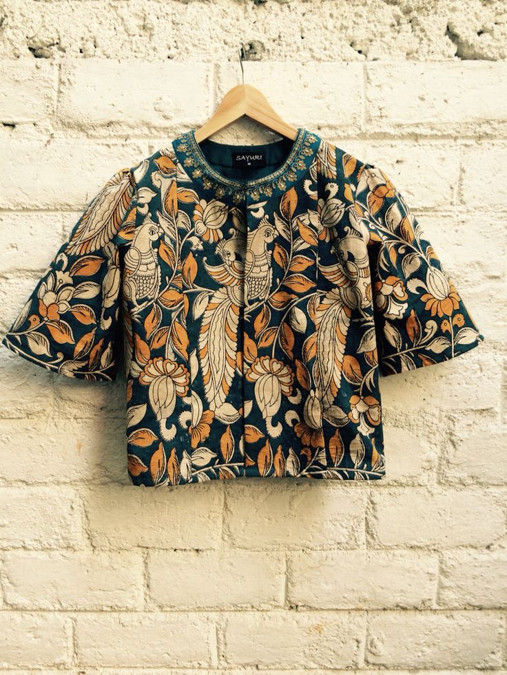 Kalamkari Printed jacket @ Anita & Komal