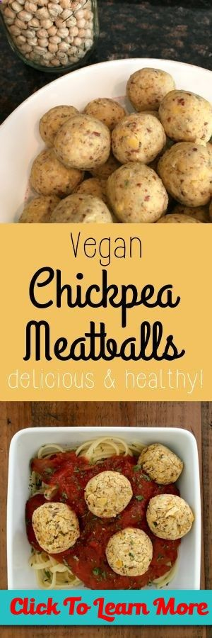 #FastestWayToLoseWeight by EATING, Click to learn more, Vegan Chickpea Meatball recipe - a delicious and healthy alternative. Throw into tomato sauce over pasta, add to soups, or just eat a bowl of them! , #HealthyRecipes, #FitnessRecipes, #BurnFatRecipes, #WeightLossRecipes, #WeightLossDiets