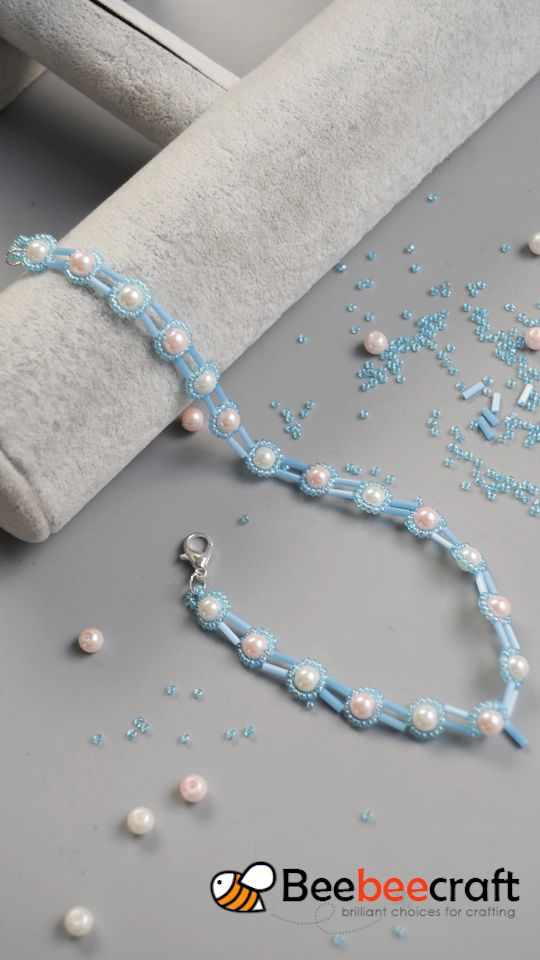 #Beebeecraft Tutorials on how to make necklace and #bracelet with #pearlbeads,#seedbeads and #buglebeads.