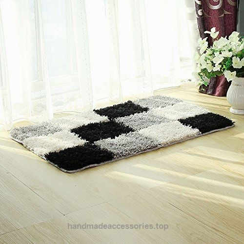hebe high pile rug soft shaggy shag rugs for living room bedroom bathroom absorbent area rugs
