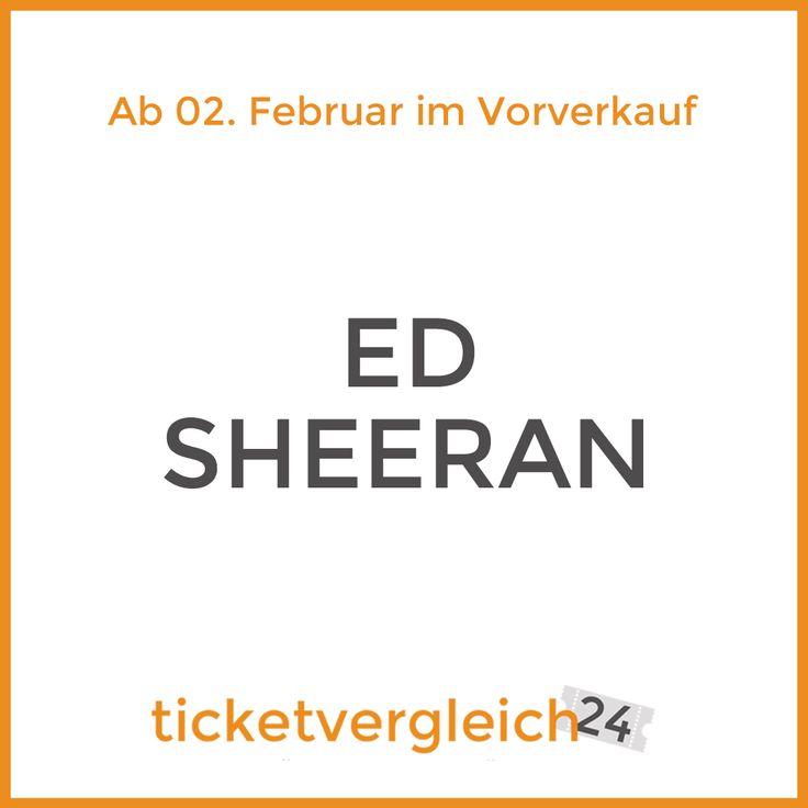 Ed Sheeran hat seine Daten für die Deutschlandtournee verraten :)  Ab dem 02. Februar beginnt der Vorverkauf für seine Tour, die in München, Mannheim, Köln, Hamburg und Berlin Halt macht.  Ab dem 02. Februar findest Du bei uns die besten Tickets für seine Konzerte.    #ticketvergleich24 #tour #edsheeran #konzert #tickets #münchen #munich #mannheim #köln #cologne #hamburg #berlin #vvk