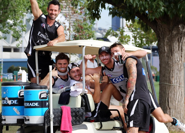 How many footballers can you fit in a golf cart?