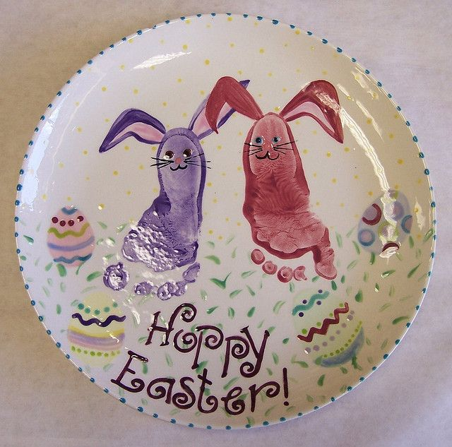 Bunny footprints - great for Easter - another really cute idea #tlcforkids