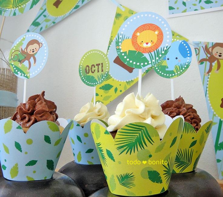 Selva niños: decoración de fiesta imprimible                                                                                                                                                     Más