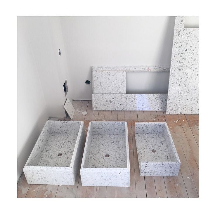 Bathroom In The Making Terrazzo Bathroomsink