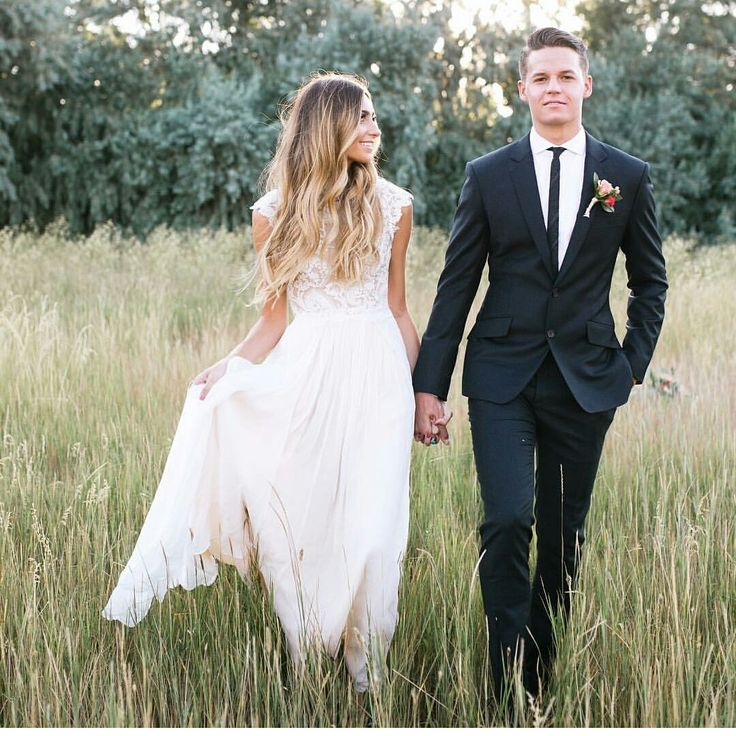 modest wedding dress with cap sleeve from alta moda. --(modest bridal gown)--