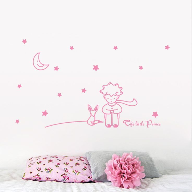 Little Prince With Fox 96x42cm Wall Sticker   Free Worldwide Shipping!  Only $5.59    Order from: www.happycozyhome.com