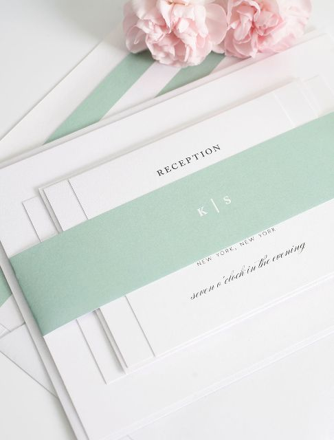 Jade green wedding invitations - soft, romantic and classic!  http://www.shineweddinginvitations.com/wedding-invitations/classic-elegance-wedding-invitations
