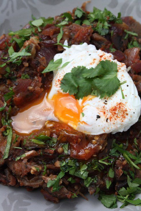 Poached Egg & Tunisian Aubergine