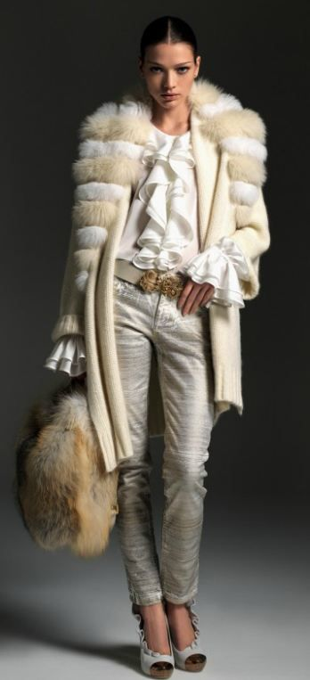Blumarine F/W 12/13....love this, as long as the fur is fake.
