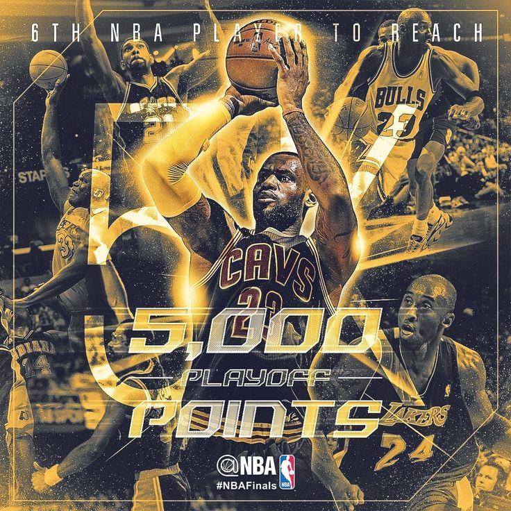 [사진] 6번째로 플레이오프에서 5000점+를 기록한 선수가 된 르브론 제임스 - NBA Mania