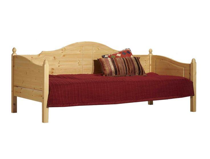 Односпальная кровать тахта K3 120x200 из массива сосны.