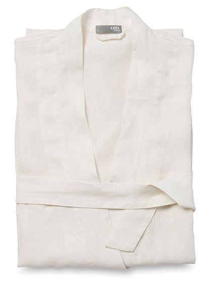 linen women's dressing gown