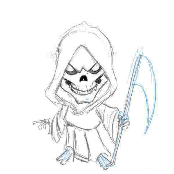 Best 25 grim reaper cartoon ideas on pinterest grim for Awesome drawings step by step