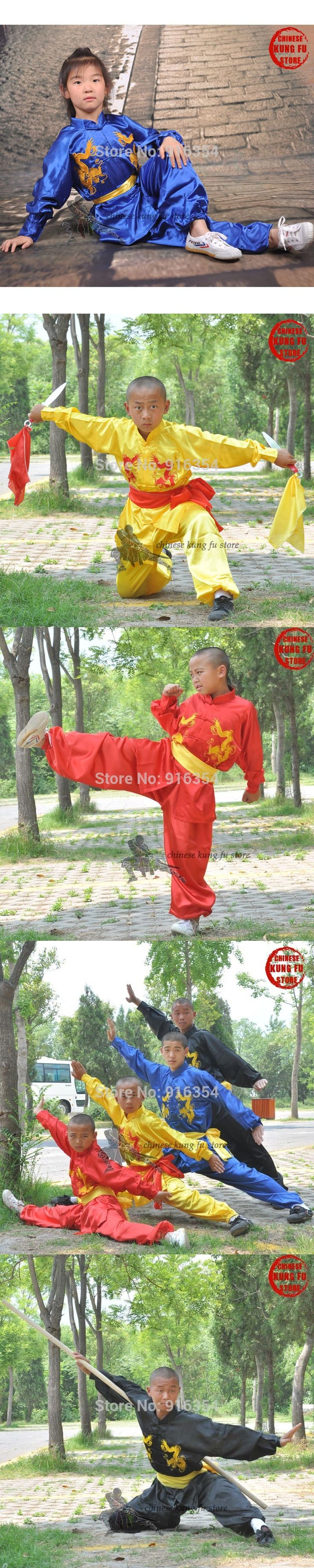 Kids and Adults Embroidery Tai chi Changquan Suit Martial arts Kung fu Wing Chun Karate Uniforms