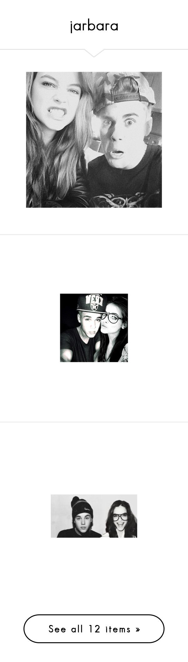 """""""jarbara"""" by lollashipper ❤ liked on Polyvore featuring couple, manips, barbara palvin, justin bieber y couples"""